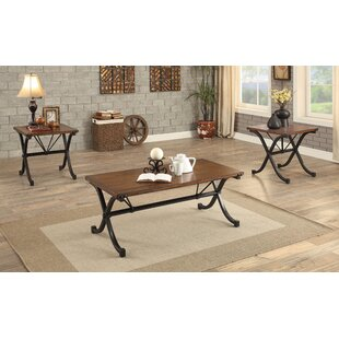 Colleton Transitional 3 Piece Coffee Table Set 17 Stories