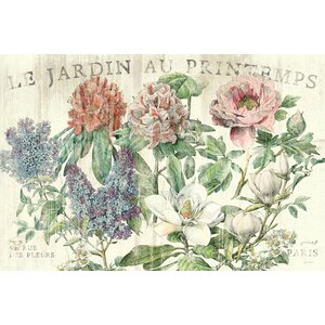 Le Jardin Printemps Graphic Art on Wrapped Canvas by Lark Manor