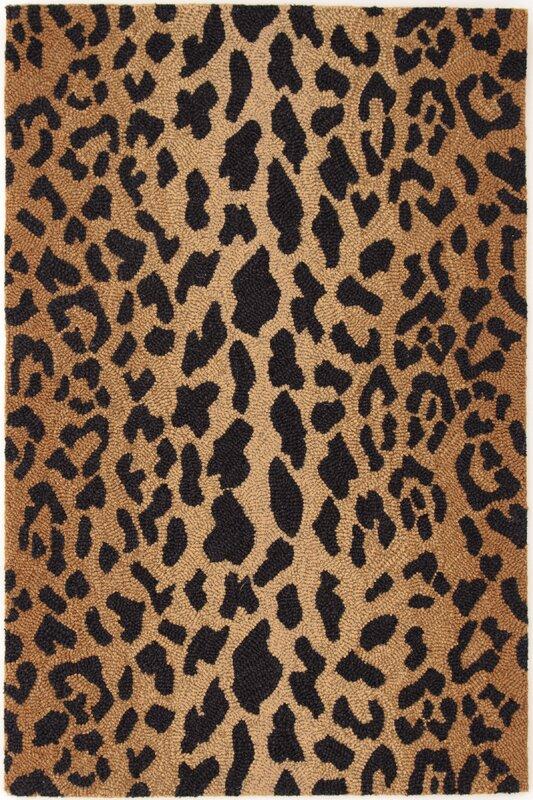 hooked brownblack area rug