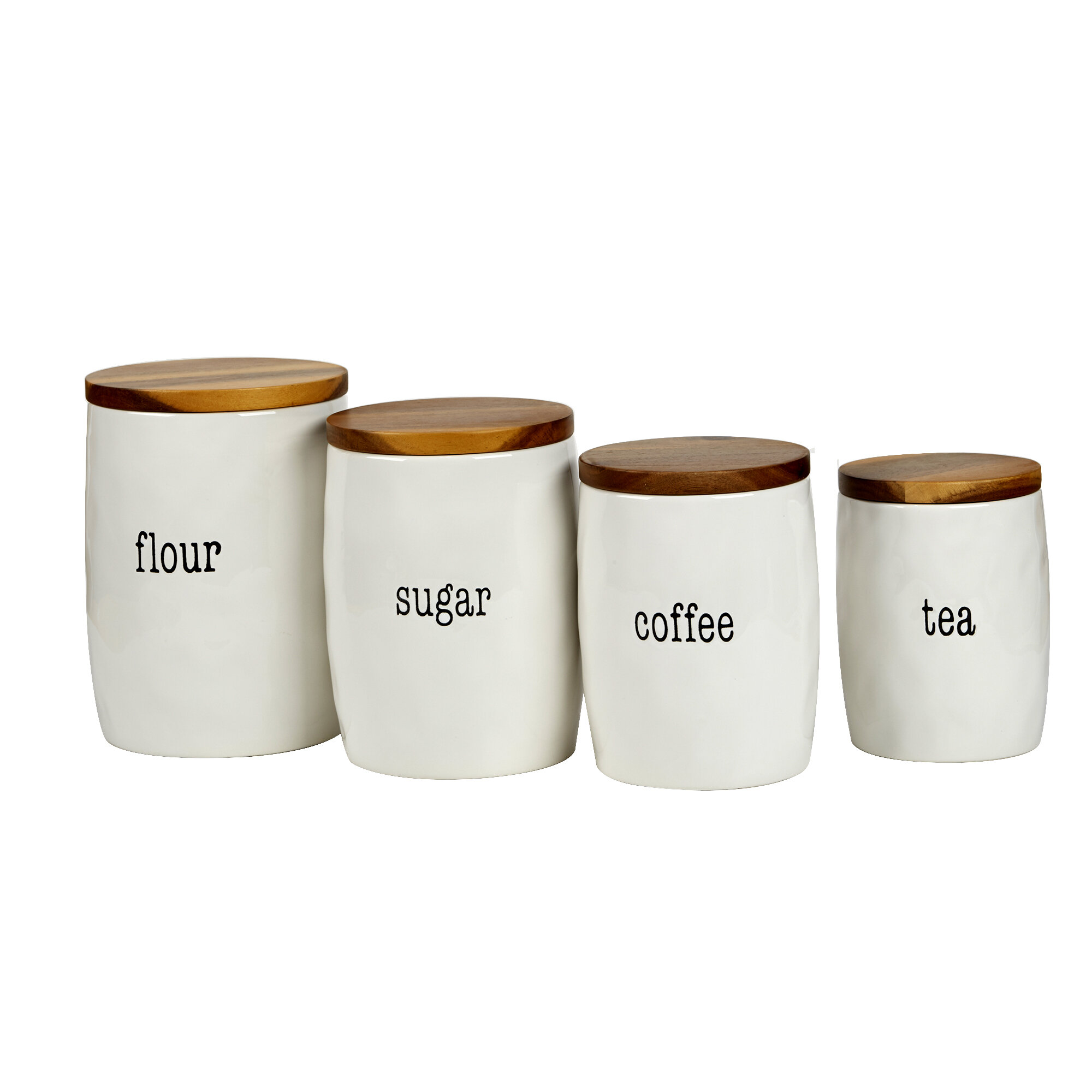 It S Just Words 4 Piece Kitchen Canister Set Reviews Joss Main