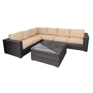 Santa Monica 5 Piece Sectional Set with Cushions ByTeva Furniture