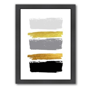 Brushes 2 Framed Painting by East Urban Home