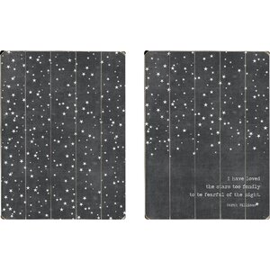 Loved the Stars 2 Piece Graphic Art Set on Wood (Set of 2) by Artehouse LLC