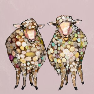 '2 Woolly Sheep' Photographic Print by GreenBox Art