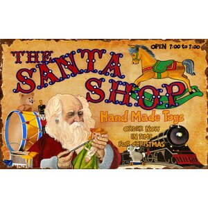 Santa Shoppe Vintage Advertisement