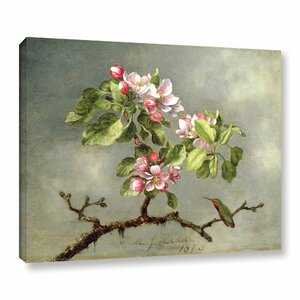 'Apple Blossoms and a Hummingbird' Painting Print on Wrapped Canvas by Ophelia & Co.