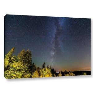 'Milky Way in Maine Horizontal' Graphic Art on Wrapped Canvas by World Menagerie