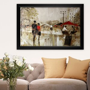 River Walk' by Ruane Manning Framed Painting on Canvas by Wexford Home