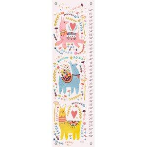 Three Sweet Llamas by Irene Chan Canvas Growth Chart by Oopsy Daisy