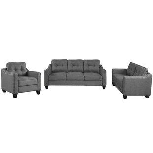 Aleathia 3 Piece Living Room Set by Red Barrel Studio®