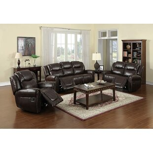 3 Piece Faux Leather Reclining Living Room Set by Red Barrel Studio®