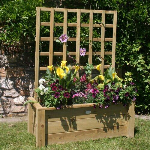 Shaylee Wooden Planter Box with Trellis Freeport Park