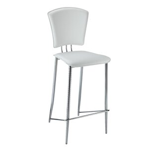 Compare prices Tracy 25.2 Bar Stool (Set of 2) by Chintaly Imports