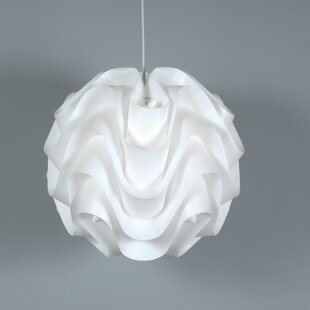 Look for Clarinda Wave 1-Light Pendant By Wade Logan