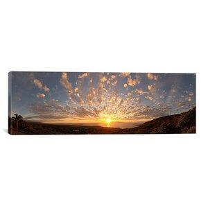 Panoramic Sunset over the Pacific Ocean, Kealakekua Bay, Kona Coast, Kona, Hawaii Photographic Print on Wrapped Canvas by iCanvas
