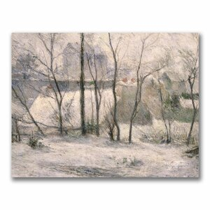 Winter Landscape by Paul Gauguin Painting Print on Canvas by Trademark Fine Art