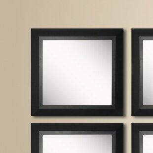Order Kimzey Attractive Matte Black Wall Mirror (Set of 4) ByCharlton Home