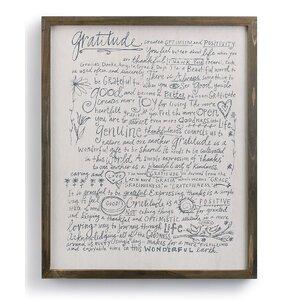 Poetic Threads Gratitude Manifesto Wall Décor by DEMDACO