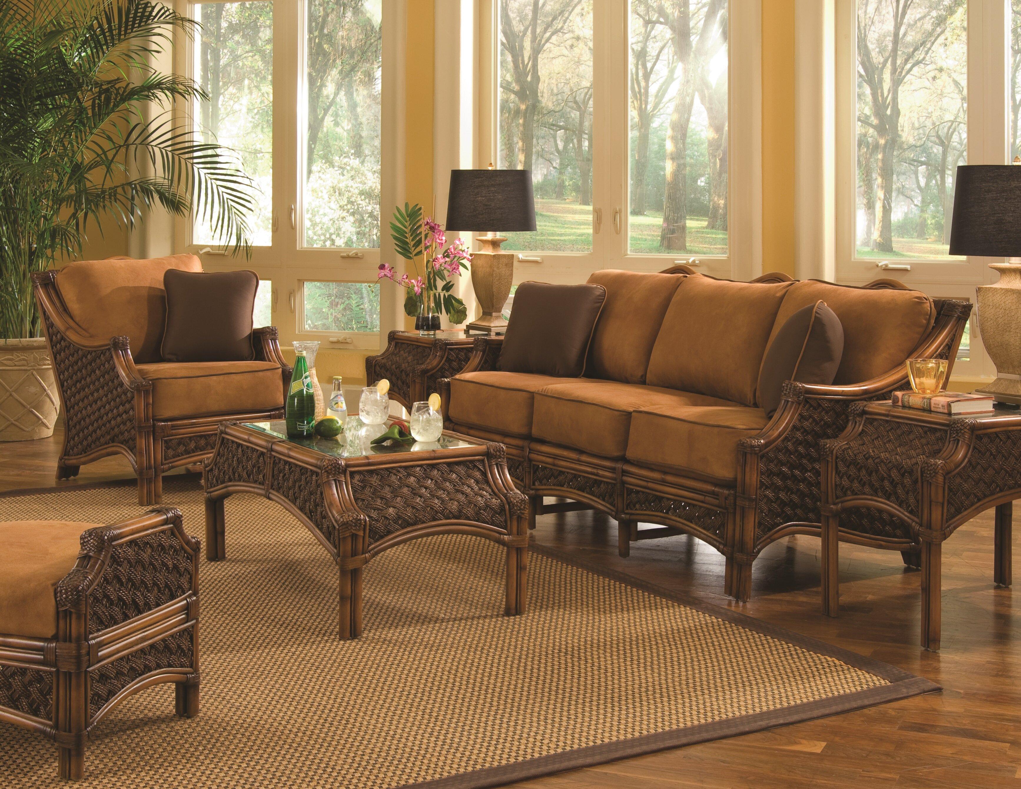 Bay Isle Home Schmitz 5 Piece Conservatory Living Room Set | Wayfair