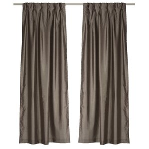 zoi solid pinch pleat panel pair set of 2