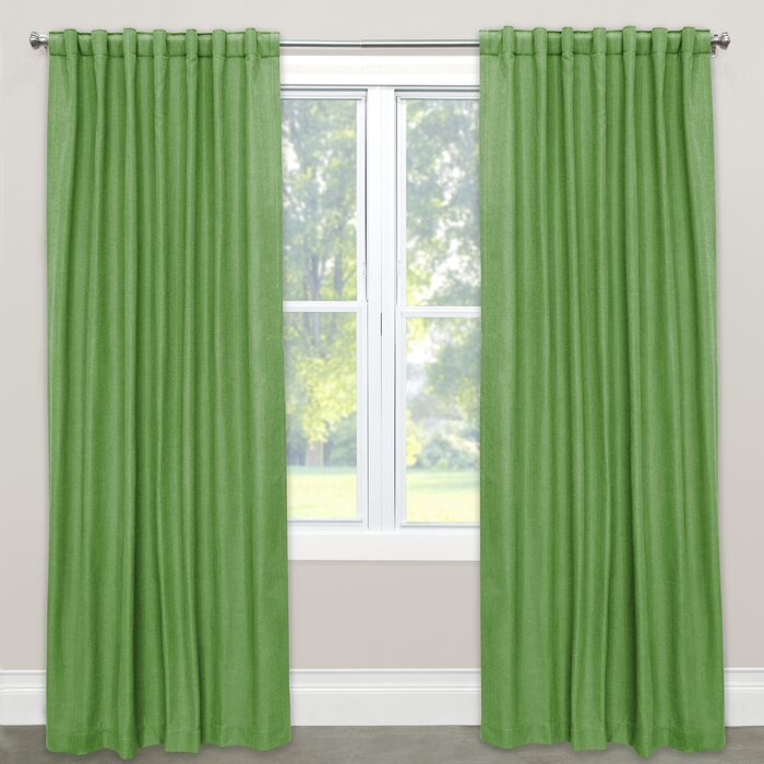 Phil Linen Blend Solid Rod Pocket Single Curtain Panel