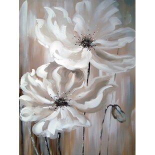 White flower canvas art wayfair white flower i oil painting print on wrapped canvas mightylinksfo
