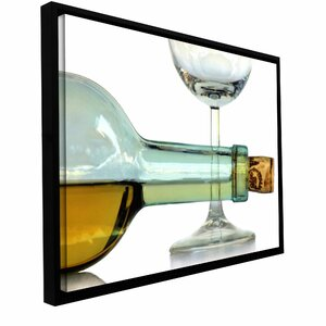 'Bottle Plus Glass' by Dan Holm Framed Photographic Print on Wrapped Canvas by ArtWall