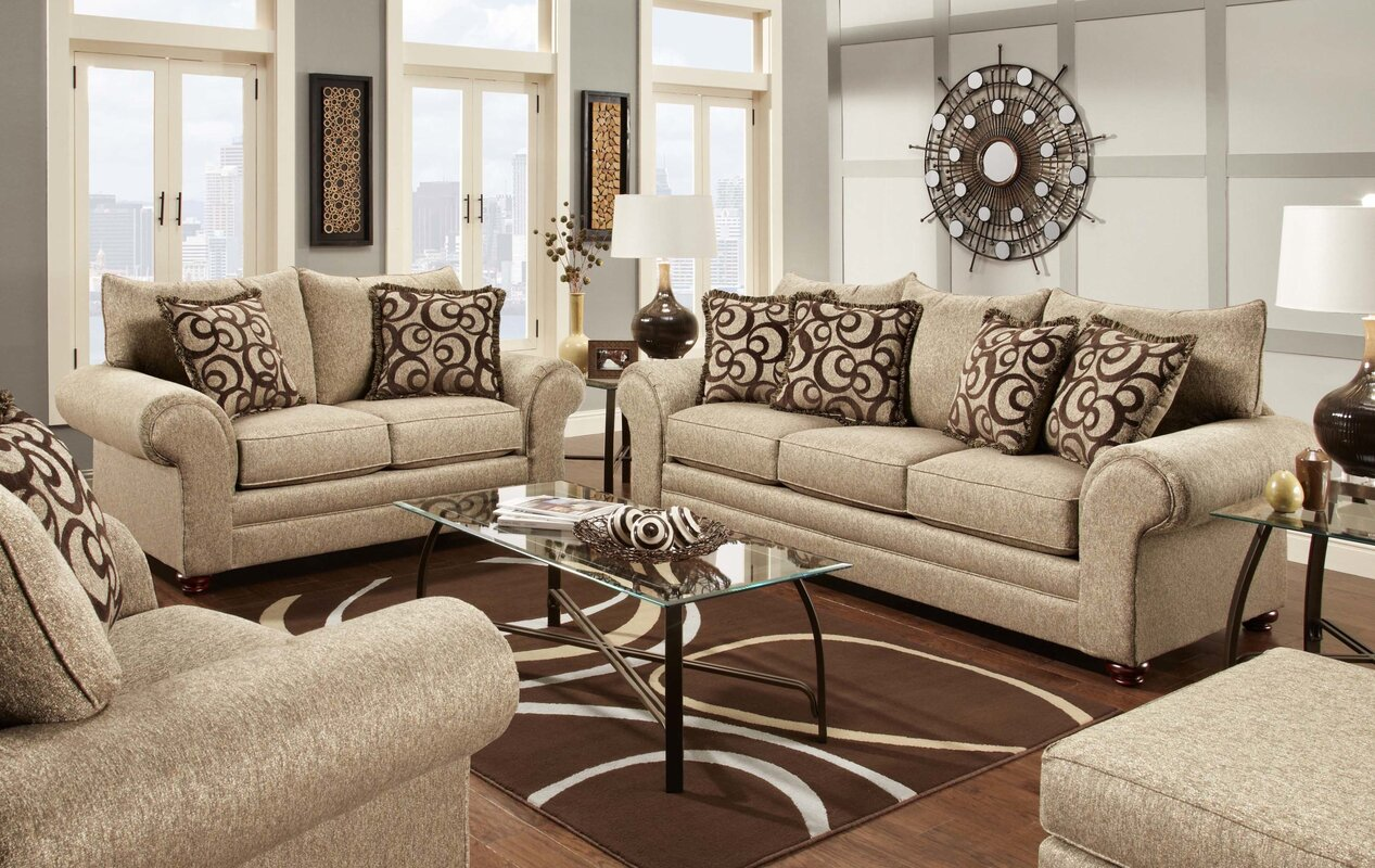 Chelsea home astrid living room collection reviews wayfair for Family sofa sets