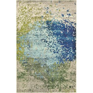 Hayes Blue/Green Area Rug