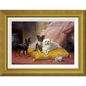 'The Little Friends' by Euphemie Muraton Framed Painting Print by Global Gallery