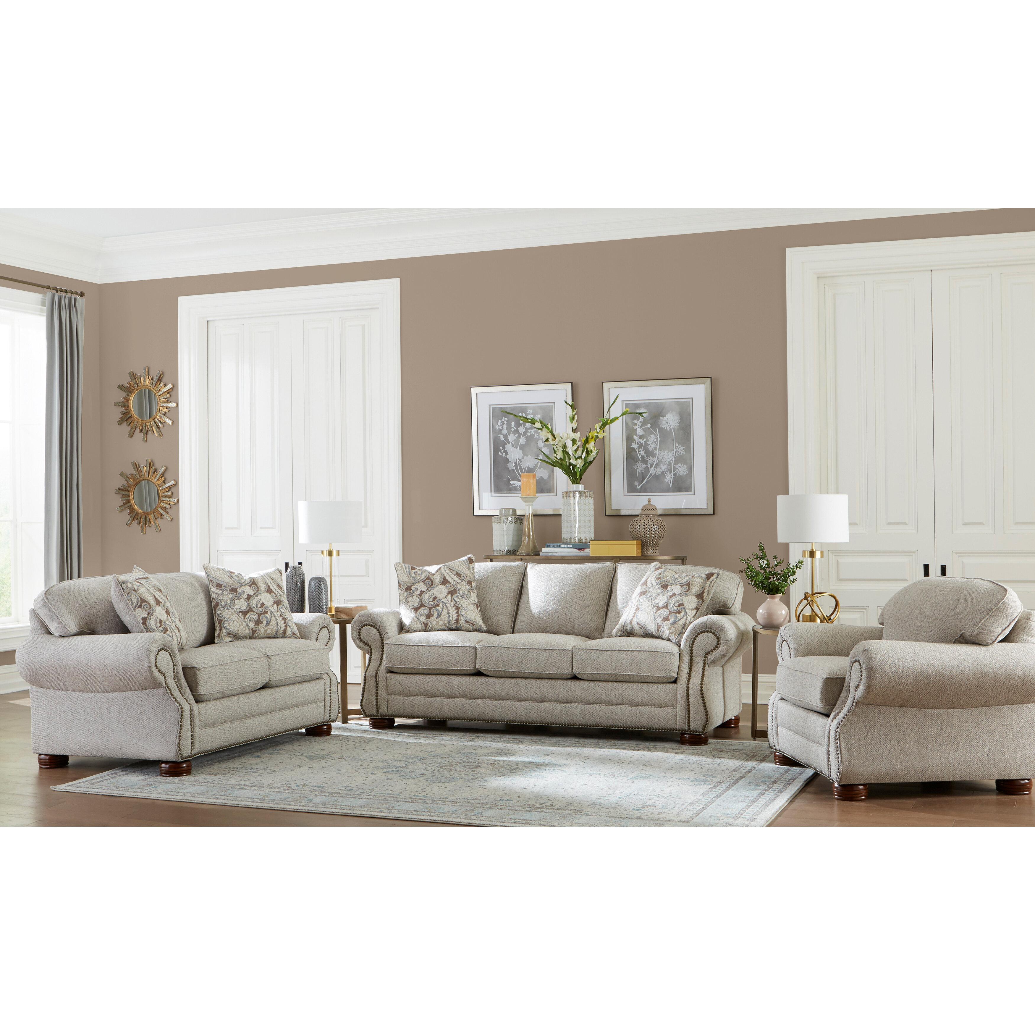 Picture of: Canora Grey Shurtz 3 Piece Living Room Set Wayfair