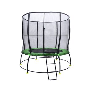 Hyper Jump Spring-less 8' Round Trampoline with Safety Enclosure