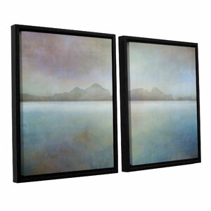 Landscape Iceland Westman 2 Piece Framed Graphic Art Set by Ivy Bronx