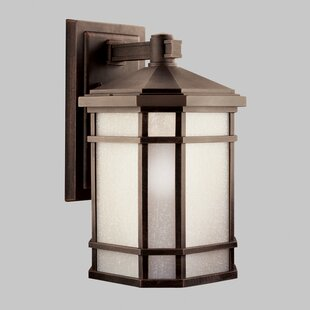 Online Reviews Robles 1-Light Outdoor Wall Lantern By Loon Peak