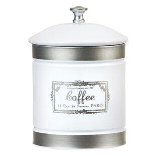 Country Farmhouse Metal 1.12 qt. Coffee Jar by Global Amici