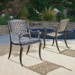 randalstown cast aluminum outdoor chair set of 2 - Cast Aluminum Patio Furniture