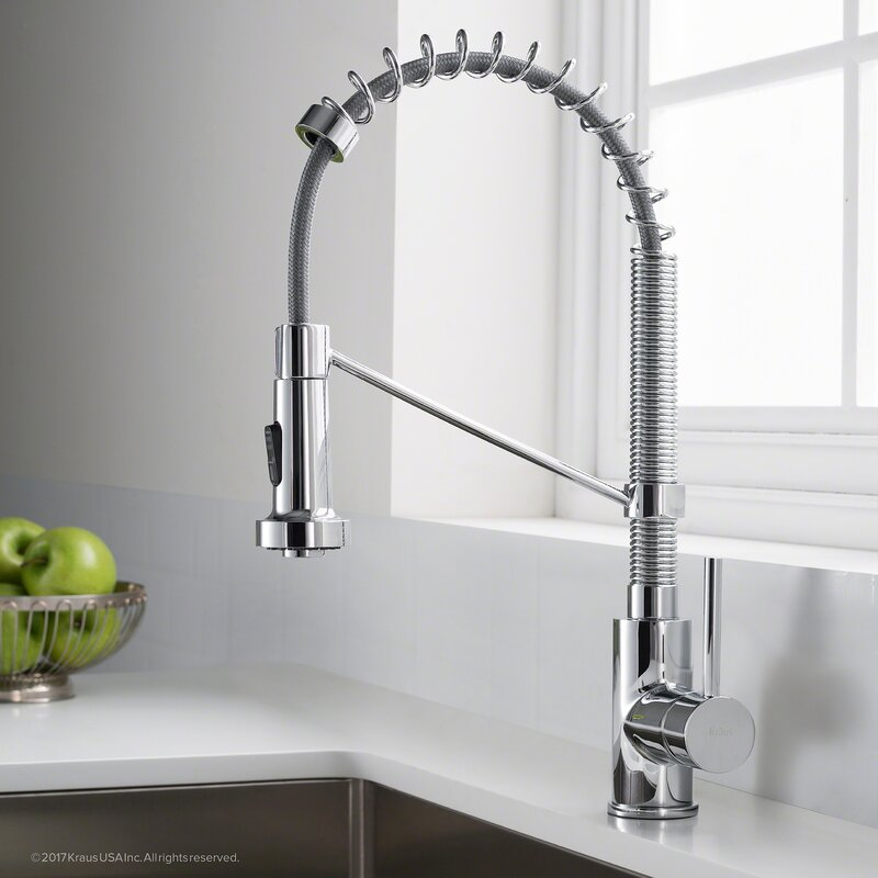 Kraus Bolden™ Series Single Handle Pull Out Kitchen Faucet & Reviews ...