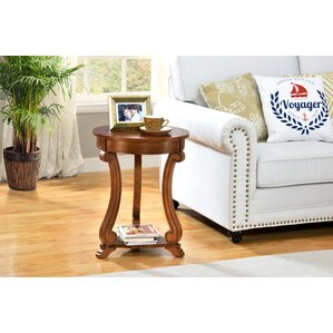 Round End Table by All Things Cedar