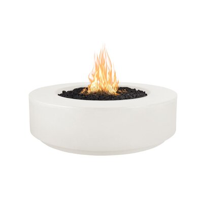 The Outdoor Plus Florence Concrete Fire Pit  Finish: Limestone, Fuel Type: Propane