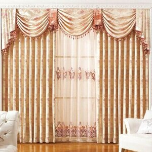 Luxury European Nature/Floral Blackout Grommet Single Curtain Panel