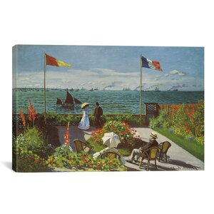 'Garden at Sainte-Adresse 1867' by Claude Monet Painting Print on Canvas by Astoria Grand