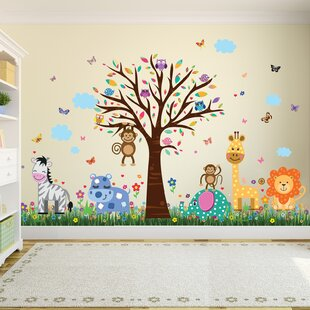 Gregory Hy London Zoo And Colourful Erflies Gr Wall Sticker
