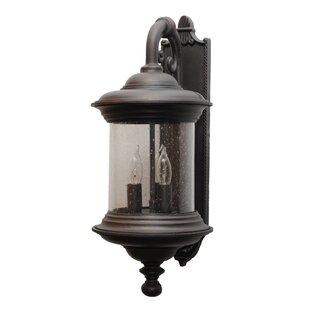 Read Reviews Phillipstown 3-Light Outdoor Wall lantern By Alcott Hill
