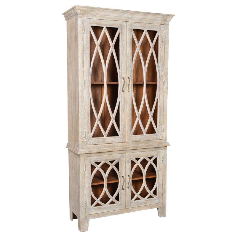 One Allium Way Pinner Glass Tall 4 Door Accent Cabinet Wayfair