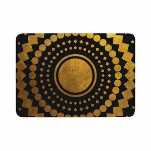 matt eklund gilded confetti geometric memory foam bath rug
