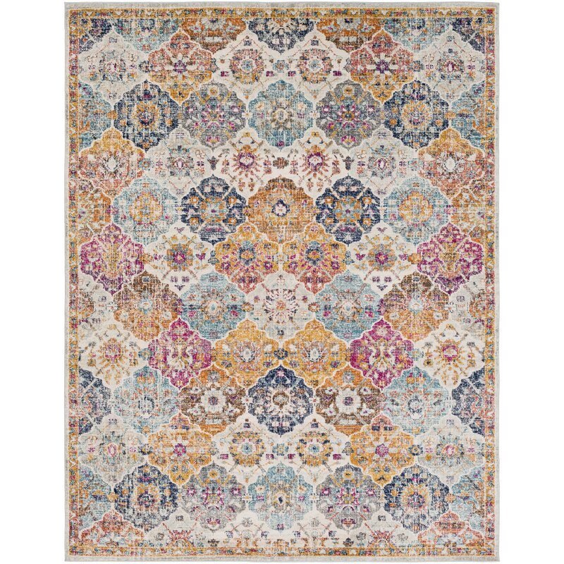hillsby orange blue area rug reviews birch lane. Black Bedroom Furniture Sets. Home Design Ideas