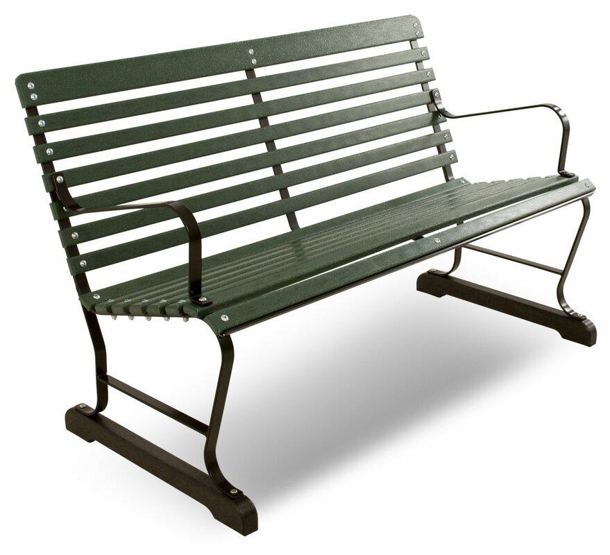 Vintage Steel Garden Bench