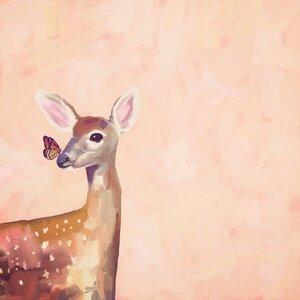 'Deer Dreams' Acrylic Painting Print by Harriet Bee