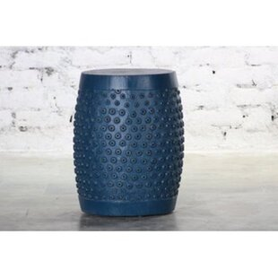 Estancia Wooden Palka Dots Accent Stool by Bloomsbury Market