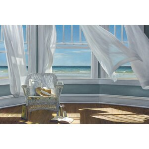 Gentle Reader Painting Print on Wrapped Canvas by East Urban Home